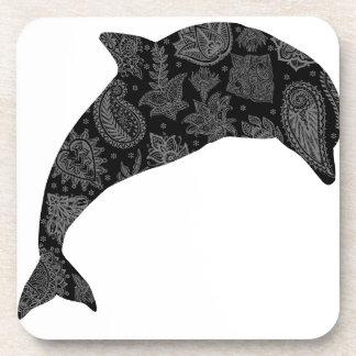 Delfín de Paisley Posavasos De Bebidas