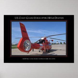Delfín de USCG Eurocopter HH-65 Poster
