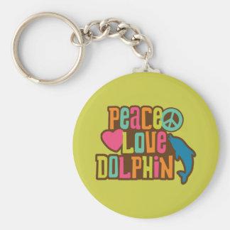 Delfín del amor de la paz llavero
