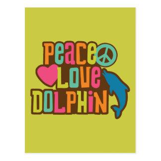 Delfín del amor de la paz postal