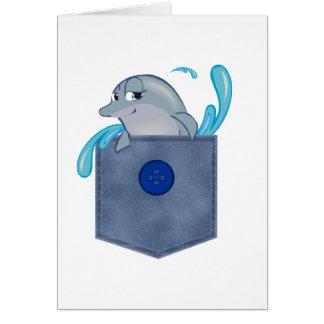 Delfín del bolsillo de Jean Tarjeta De Felicitación