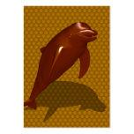 Delfín del chocolate plantillas de tarjeta de negocio