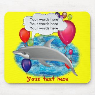 Delfín del cumpleaños tapetes de raton