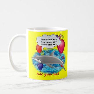 Delfín del cumpleaños taza de café