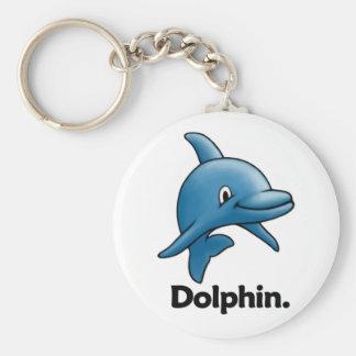 Delfín del delfín llavero redondo tipo pin