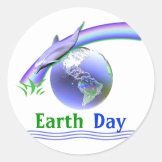 Delfín del Día de la Tierra Etiquetas