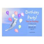 Delfín del fiesta del feliz cumpleaños de los niño