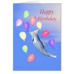 Delfín del fiesta del feliz cumpleaños de los niño felicitaciones