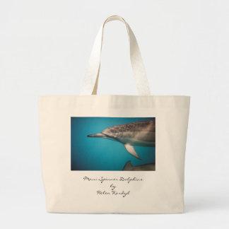 Delfín del hilandero, hilandero DolphinsbyHelen K  Bolsa Tela Grande