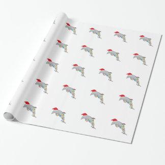 Delfín del navidad papel de regalo