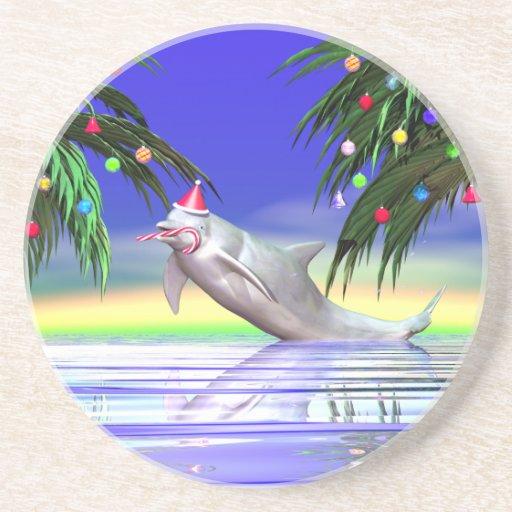 Delfín del navidad posavasos diseño