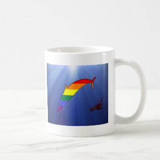 Delfín del orgullo de GLBT Taza