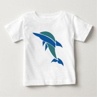 Delfín del vitral playera de bebé