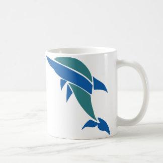 Delfín del vitral tazas de café