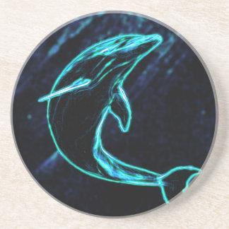 Delfín (delfín ligero) posavasos de arenisca
