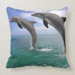 Delfin,Delphin,Grosser Tuemmler,Tursiops 4 Throw Pillow
