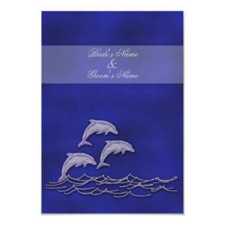 Delfín elegante RSVP del boda de playa Invitación 8,9 X 12,7 Cm