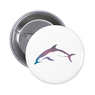 delfín en colores pastel bonito pin redondo de 2 pulgadas