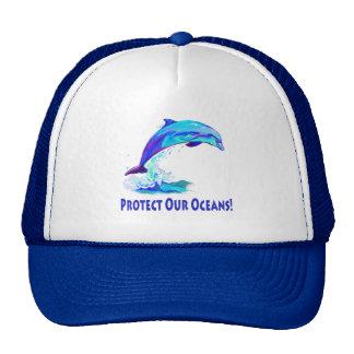 Delfín en colores: ¡Proteja nuestros océanos! Gorros