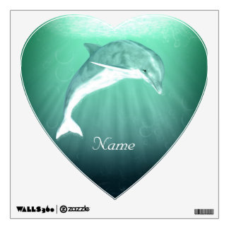 Delfín en el mar esmeralda vinilo decorativo