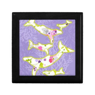 Delfín en fondo violeta llano cajas de regalo