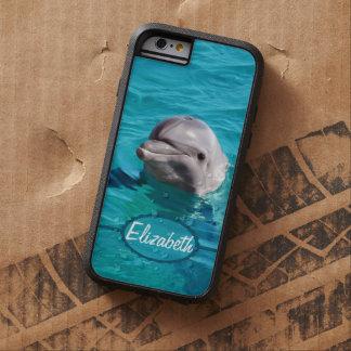 Delfín en foto del agua azul funda tough xtreme iPhone 6