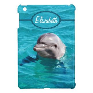 Delfín en foto del agua azul iPad mini protectores