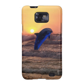Delfín en la puesta del sol funda galaxy s2