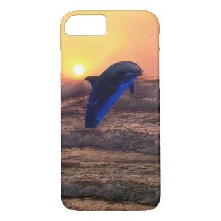 Delfín en la puesta del sol funda iPhone 7