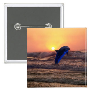 Delfín en la puesta del sol pin