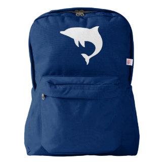 Delfín en silueta mochila
