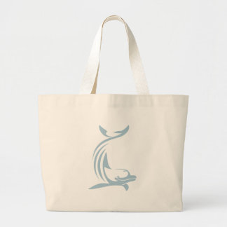 Delfín feliz bolsa tela grande