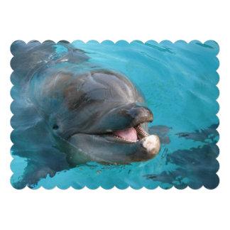 Delfín feliz invitaciones personales