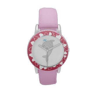 Delfín feliz lindo reloj