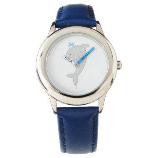 Delfín feliz lindo relojes de pulsera