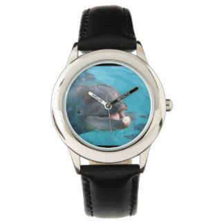 Delfín feliz relojes de pulsera