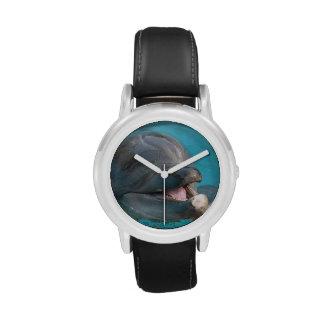 Delfín hablador reloj