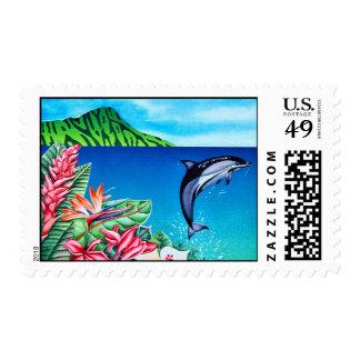 Delfín hawaiano estampilla