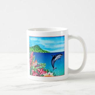 Delfín hawaiano taza de café