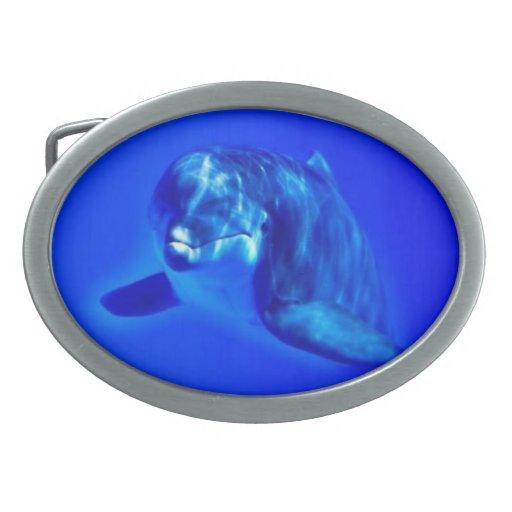 Delfín Hebilla Cinturón Oval