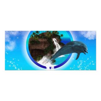 Delfín Invitación 10,1 X 23,5 Cm