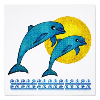 Delfín Invitación 13,3 Cm X 13,3cm