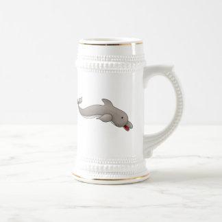 Delfín juguetón jarra de cerveza