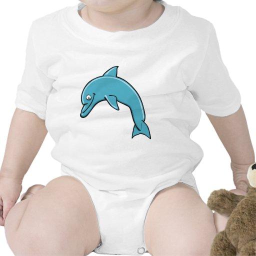 Delfín lindo camisetas