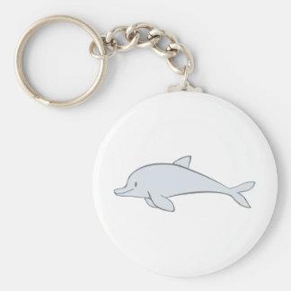 Delfín lindo de encargo de la aleta llavero