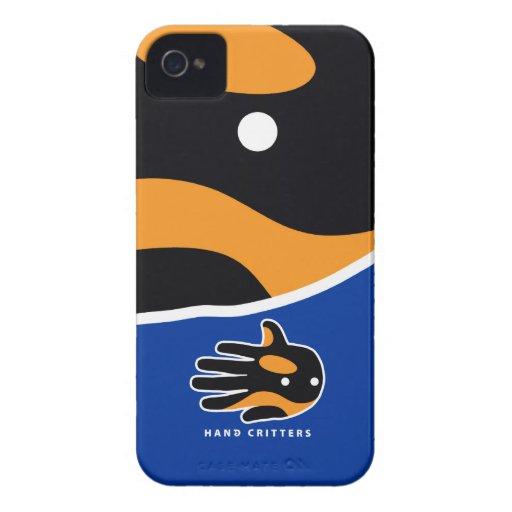 Delfín lindo de la orca de la orca Case-Mate iPhone 4 cárcasas
