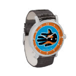 Delfín lindo de la orca de la orca relojes de mano