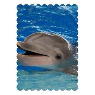 Delfín lindo del rechino invitaciones personales