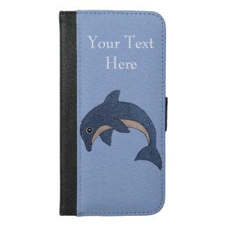 Delfín lindo en el salto blanco azul