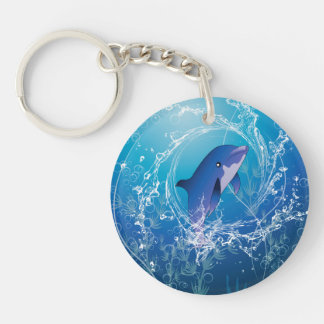 Delfín lindo llaveros